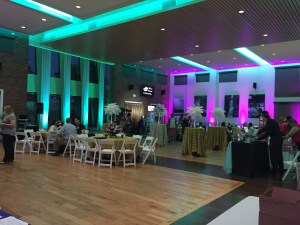 Event lighting at the Falls Event Center Elk Grove