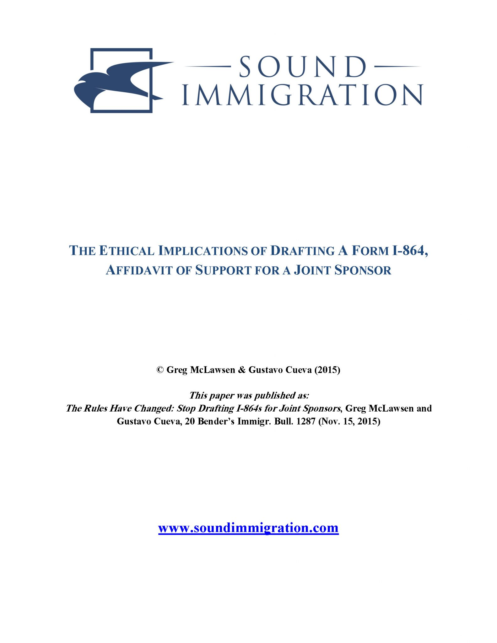 The Ethical Implications of Drafting A Form I-864, Affidavit of ...