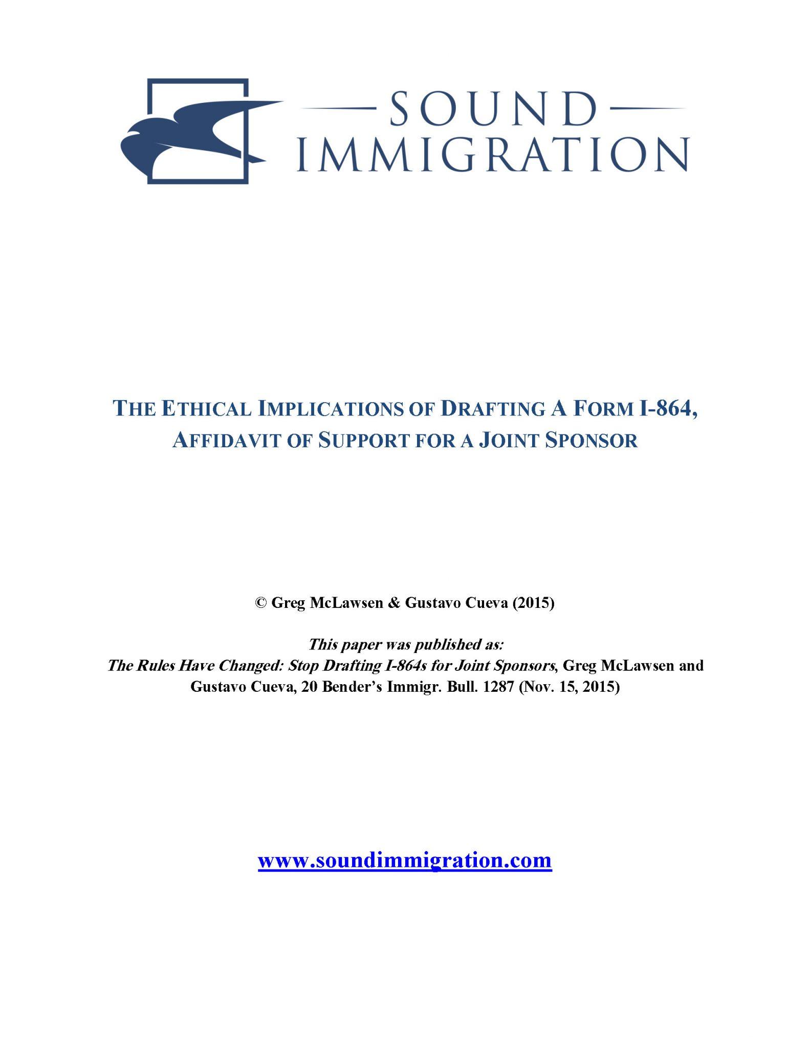 Joint Sponsor Ethics – Cover
