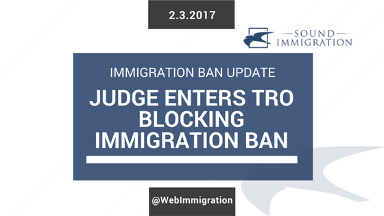 Federal Court Halts Immigration Ban Executive Order