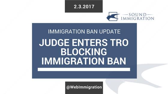 Federal Court Halts Immigration Ban Executive Order