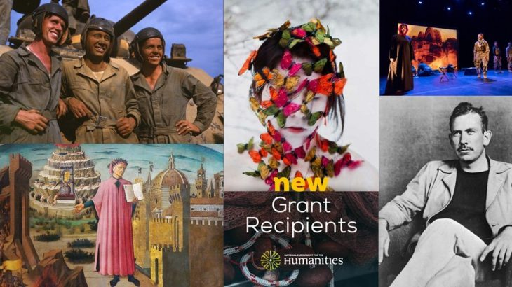 National Endowment for the Humanities new grant recipients graphic