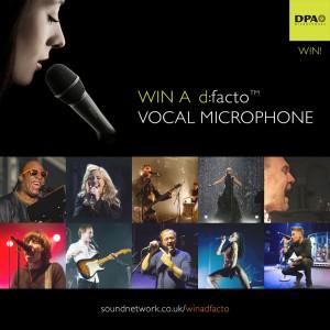 Win a DPA d:facto™ Vocal Microphone
