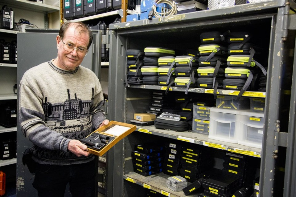 Nigel Woodford and his DPA Microphones safe