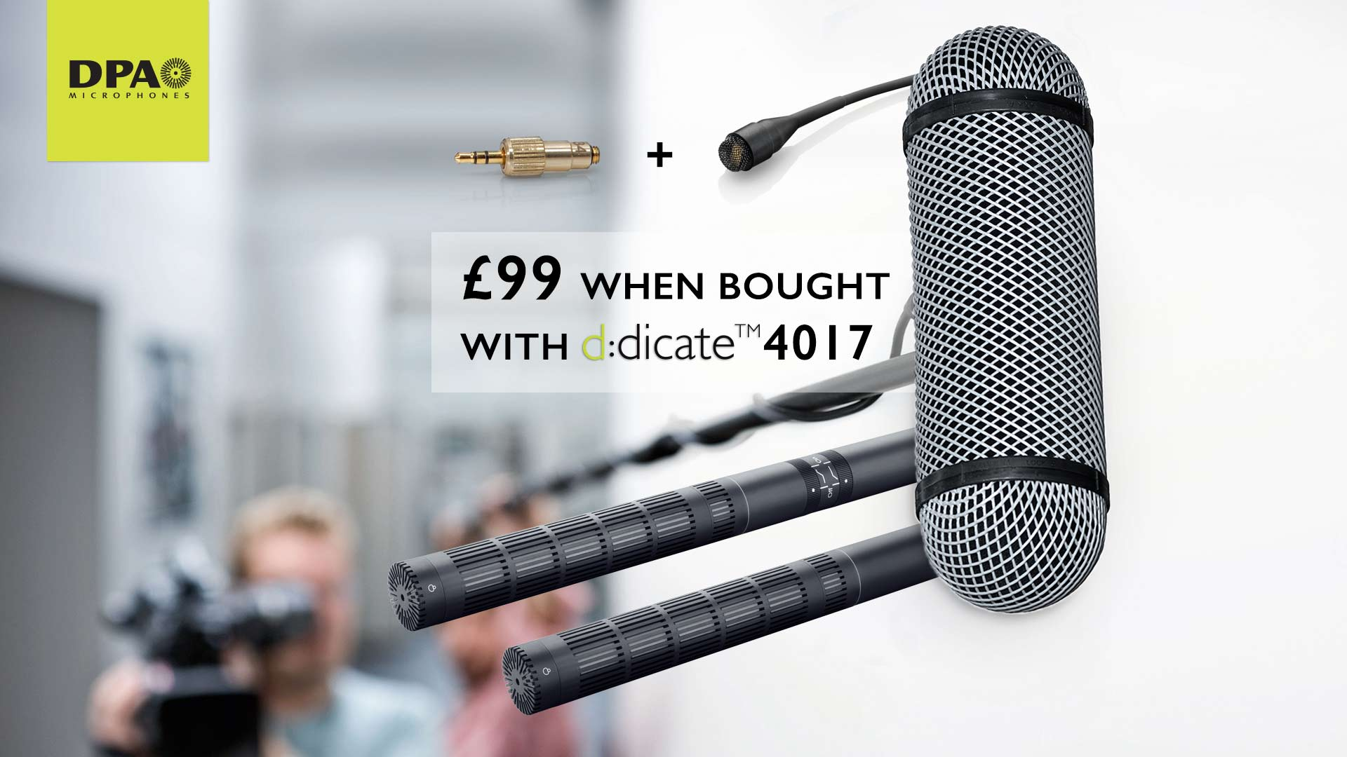DPA 4060 and adapter just £99 with d:dicate™ 4017