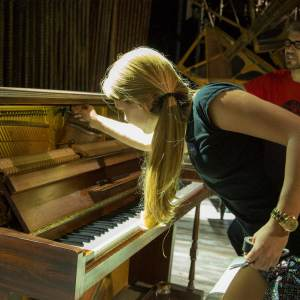 Into the Woods and DPA - Sarah mics the piano