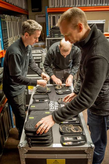 Core by DPA Headsets being prep'd for production
