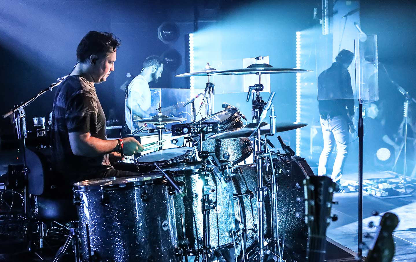 Snow Patrol Drummer with DPA Microphones