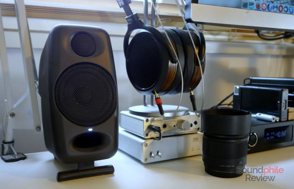 IK Multimedia iLoud Micro Monitor on the desk