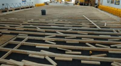 Subfloor for soundproofing