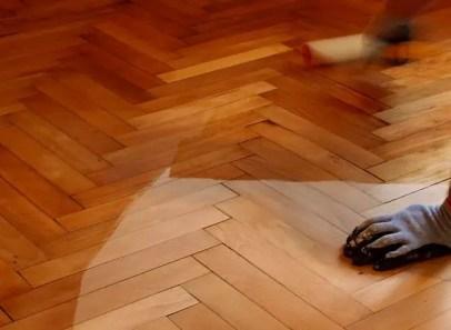 Wooden floor covering