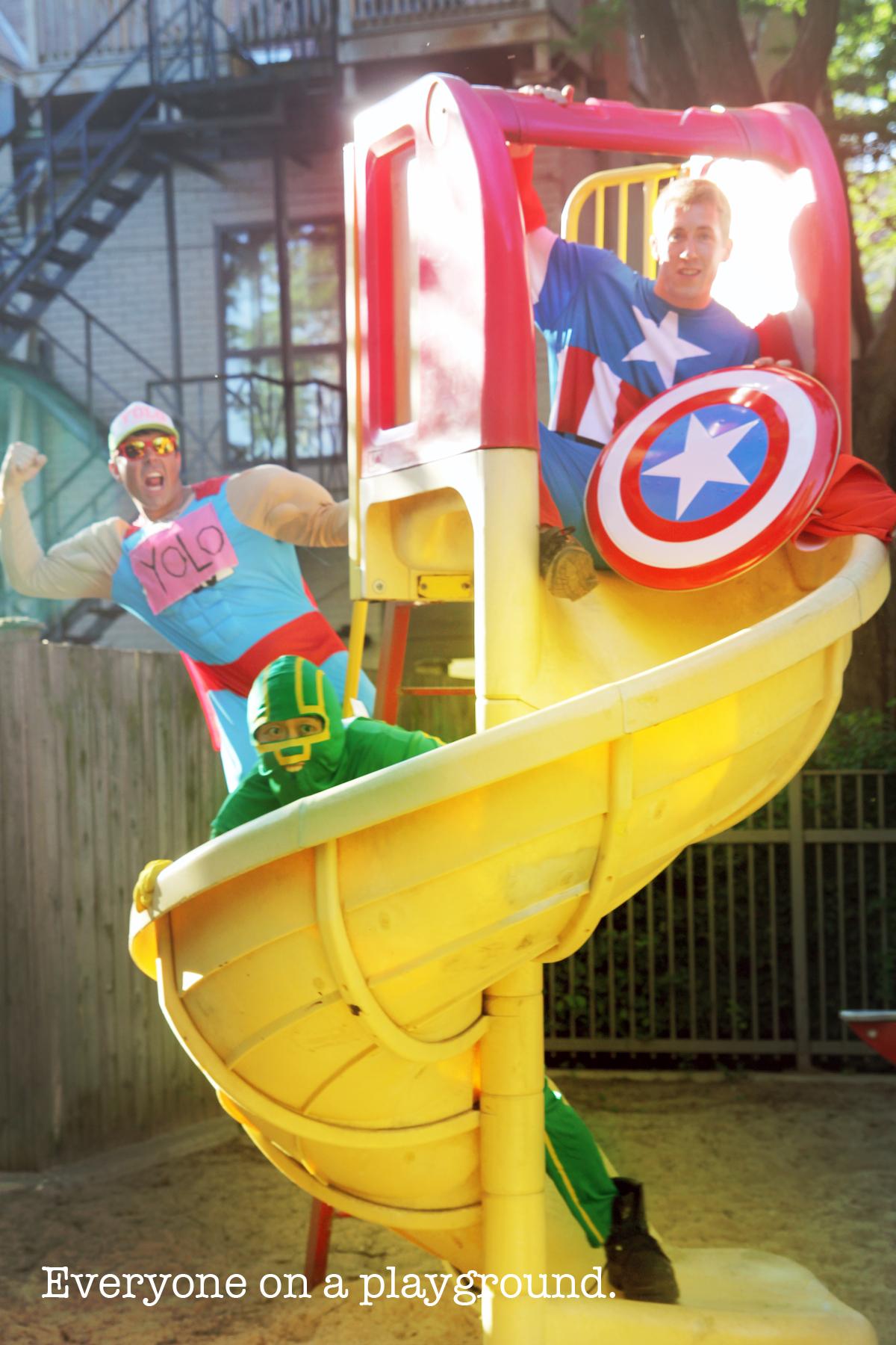 Super heroes themed photo scavenger hunt