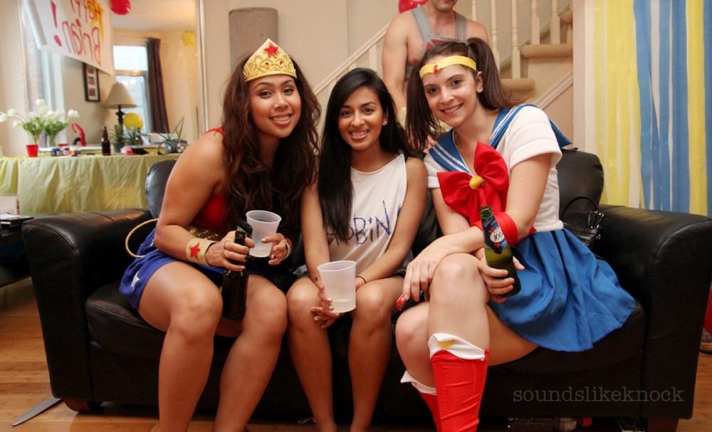 female super hero costume