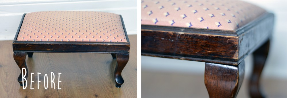 diy re-upholster a bench