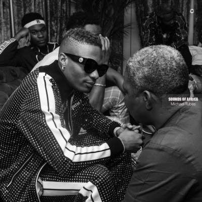 Wizkid with his Manager Sunday Are