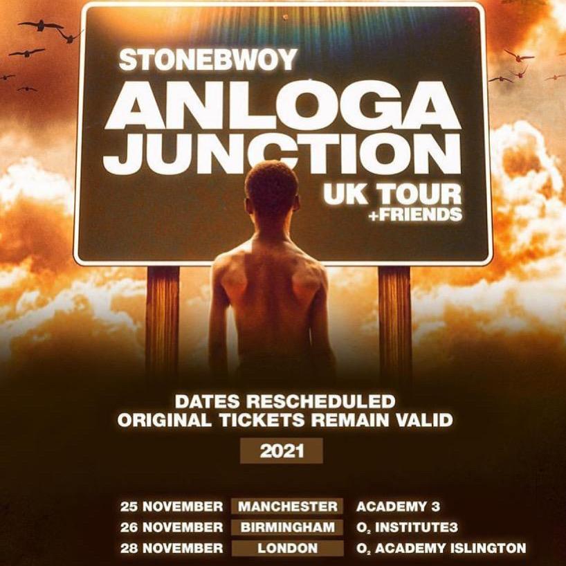 Stonebwoy UK Tour 2021