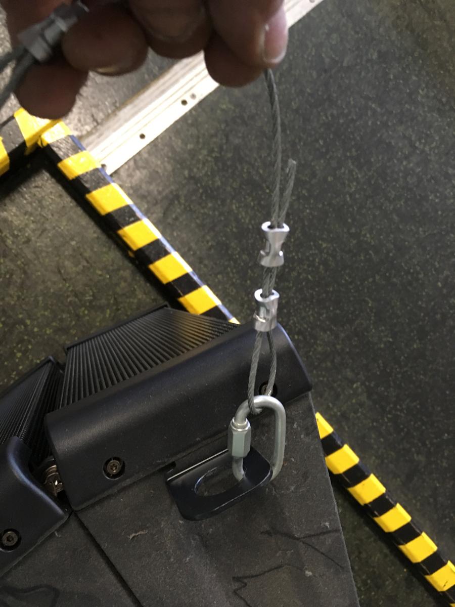 A properly flown speaker