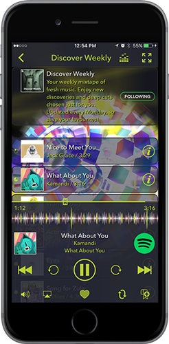 Tunr Spotify Discover Weekly Visual Player