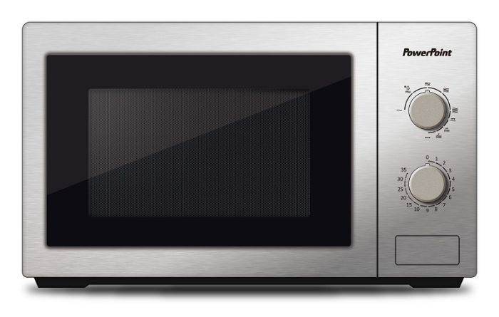 powerpoint 800w interior microwave stainless steel