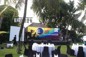 Sewa Sound System Bali Paket 4 Box Speaker Active - Acara Excellence Persiapan 2016