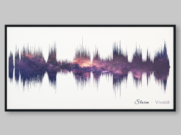 Night Sky Soundwave Art