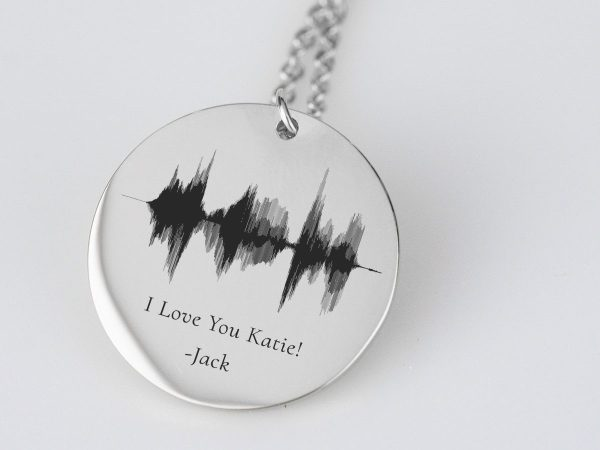 Sound Wave Art Necklace