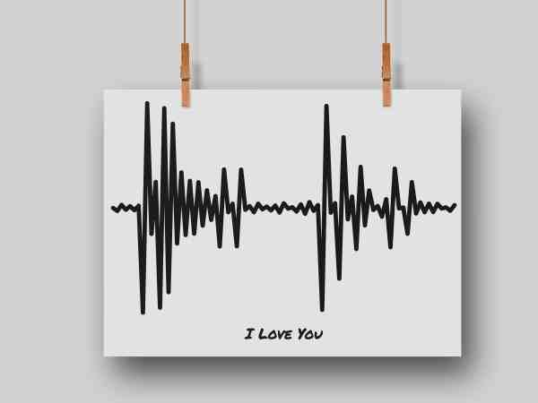 message to sound wave art