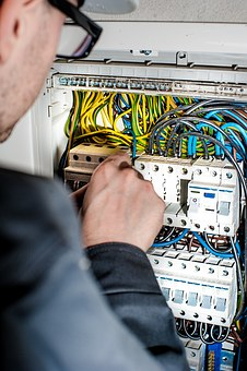 Electrician working