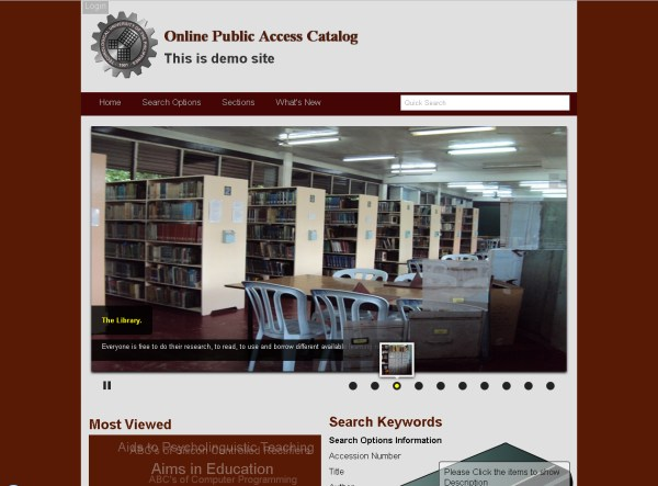 Online Public Access Catalog | Free source code, tutorials ...