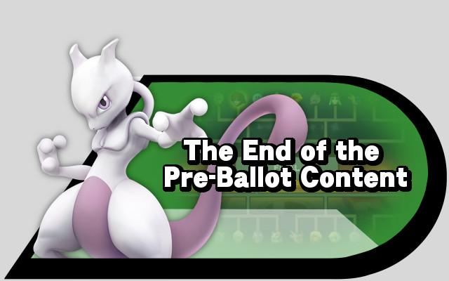 End of pre-ballot