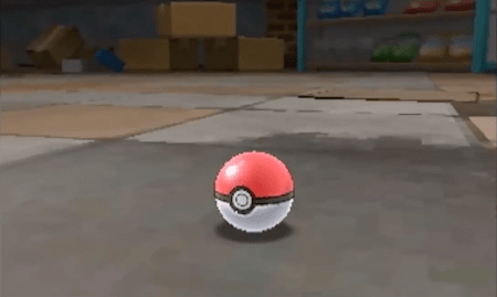Catching a Pokémon at Thrifty Megamart in Sun and Moon
