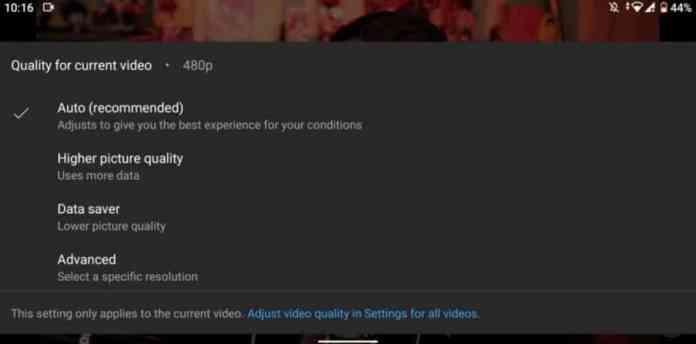 YouTube streaming settings