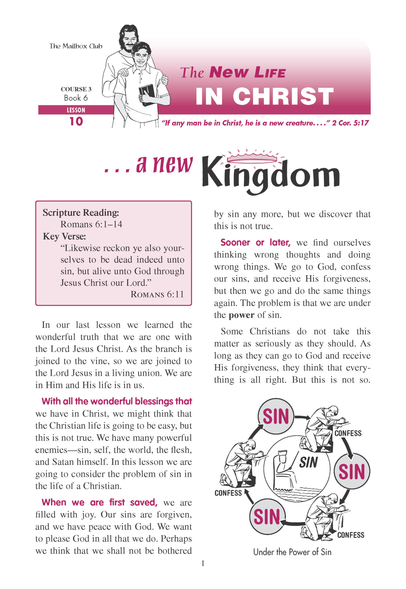 The New Life In Christ Course 3 Source Of Light