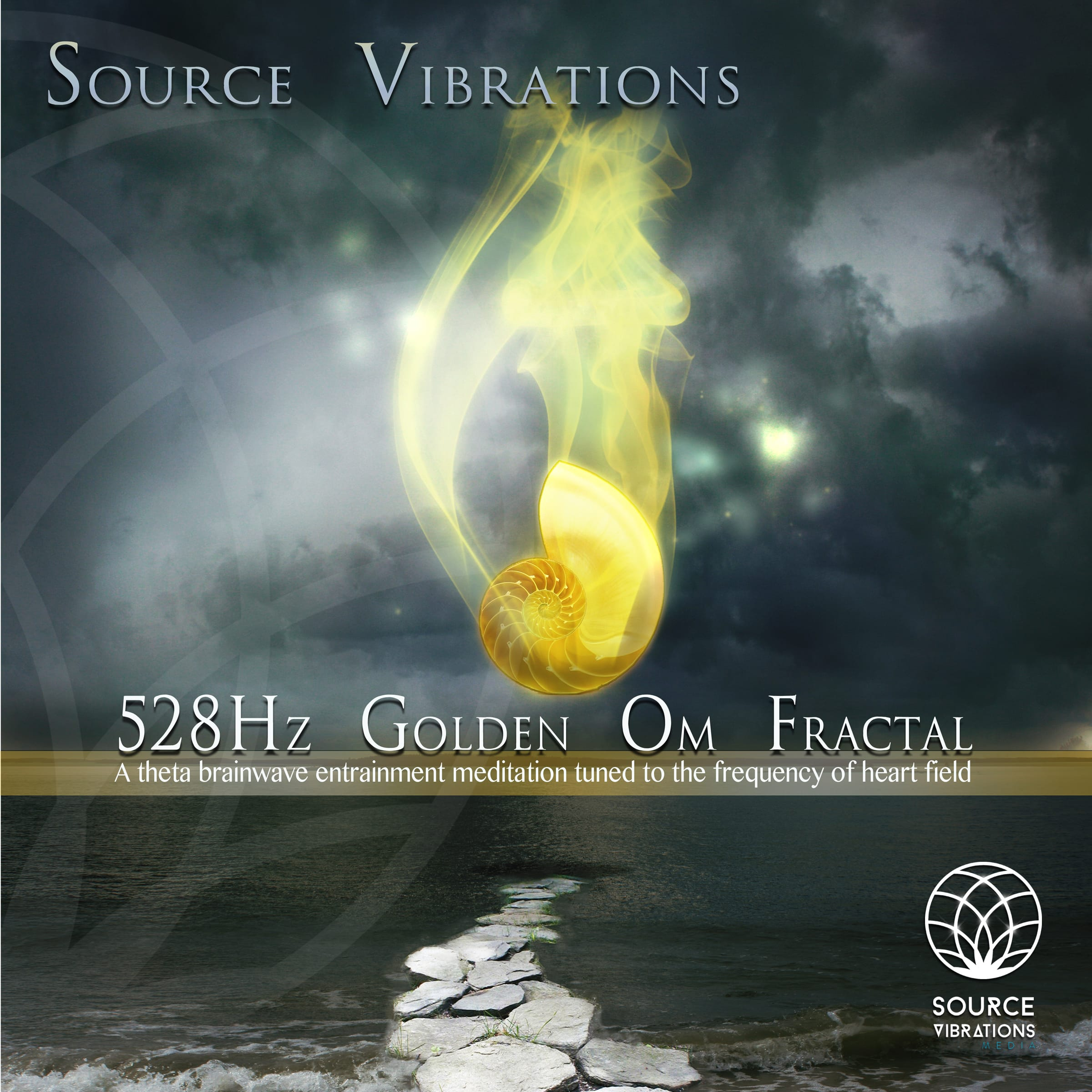 528Hz Golden Om Fractal ~ Theta Meditation