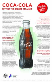 Coca Cola S Misleading Quot Myth Busting Quot Ad Sourcewatch