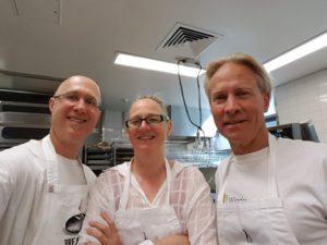 Kon, Karen and Tim at Sydney TAFE Bakery.