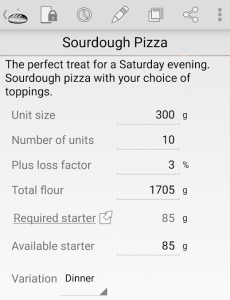 sourdough pizza settings