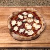 sourdough Neapolitan pizza made in home oven