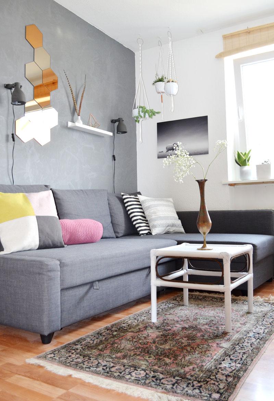 wohnzimmer betonwand orientalisch kupfer. Black Bedroom Furniture Sets. Home Design Ideas