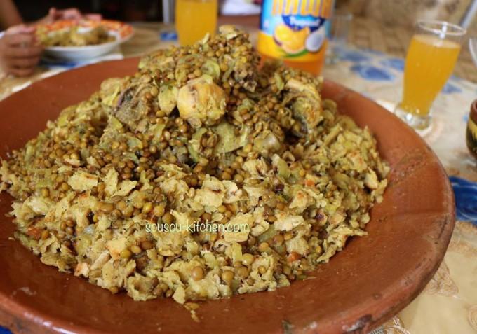 Rfissa-Recette marocaine - Sousoukitchen