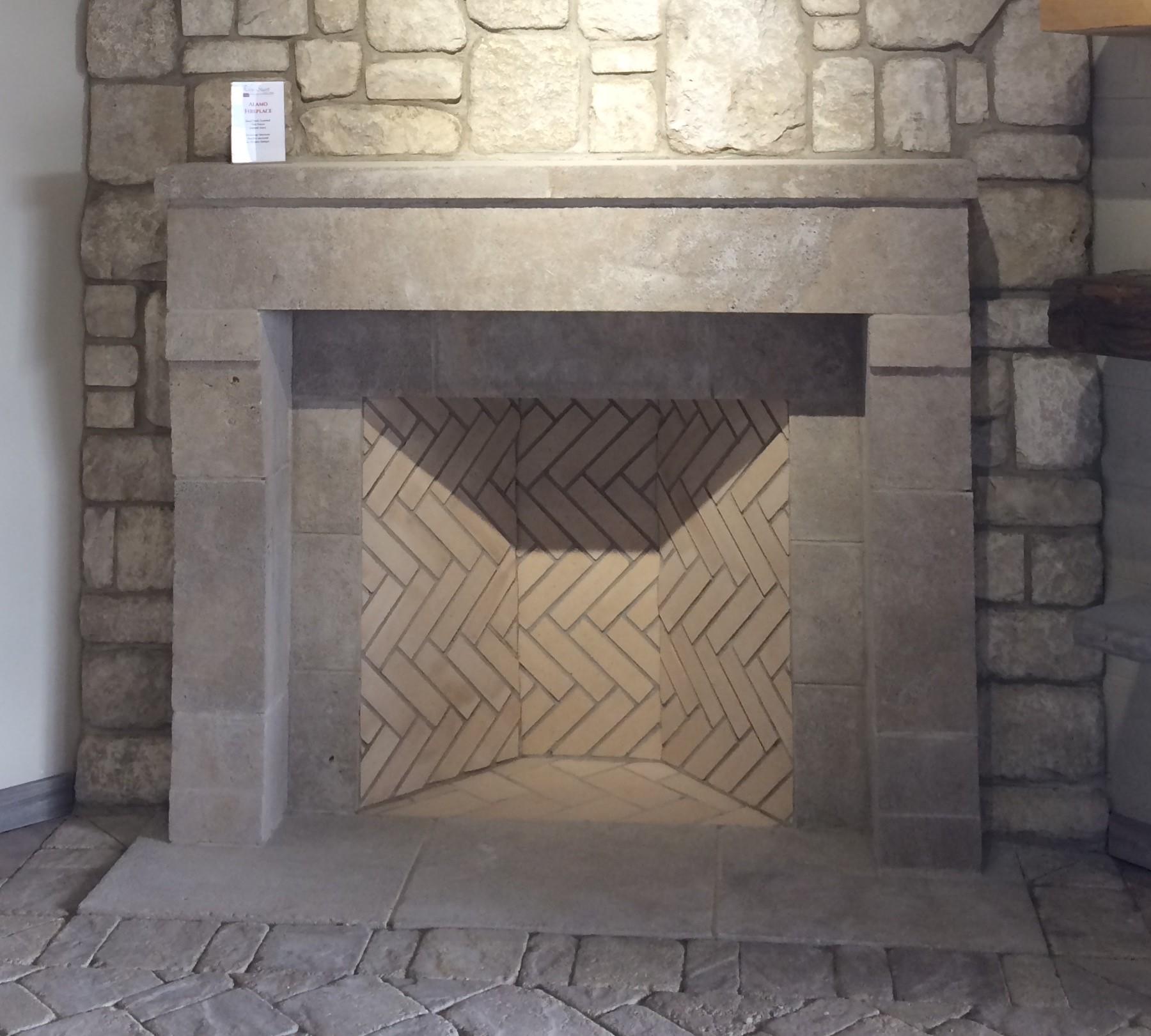 Limestone Fireplace Surround