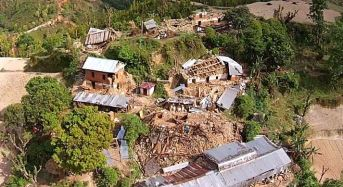 Two earthquake-hit villages in Nepal are still cut off, literally