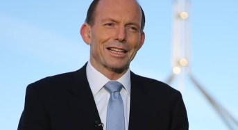 Tony Abbott conveys his words of sympathy to the quake-affected Nepalese