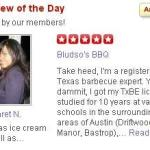 Margaret Scores Another ROTD on Yelp