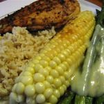 Grilled Corn, Grilled Asparagus