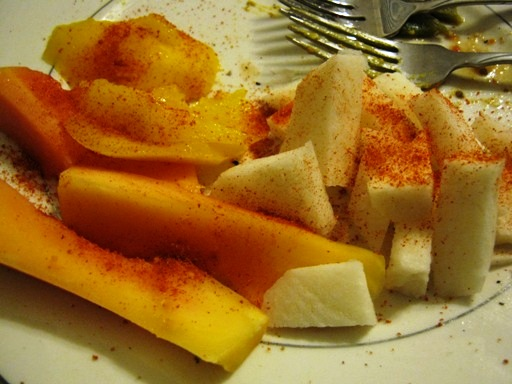 Papaya, Mango, and Jicama with Chili Powder