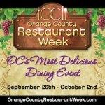 Orange County Restaurant Week Begins Sunday 9/26
