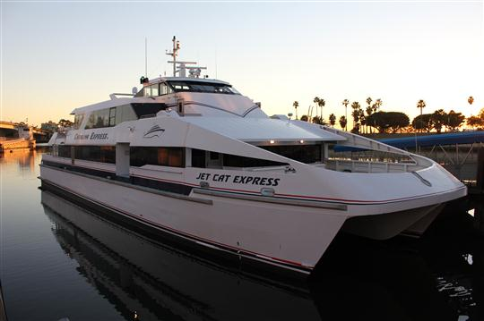 The Jet Cat Express, one of the Catalina Express fleet's high speed catamarans.