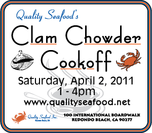 Quality Seafood Clam Chowder Cookoff, Saturday April 2, 2001, 1-4 PM