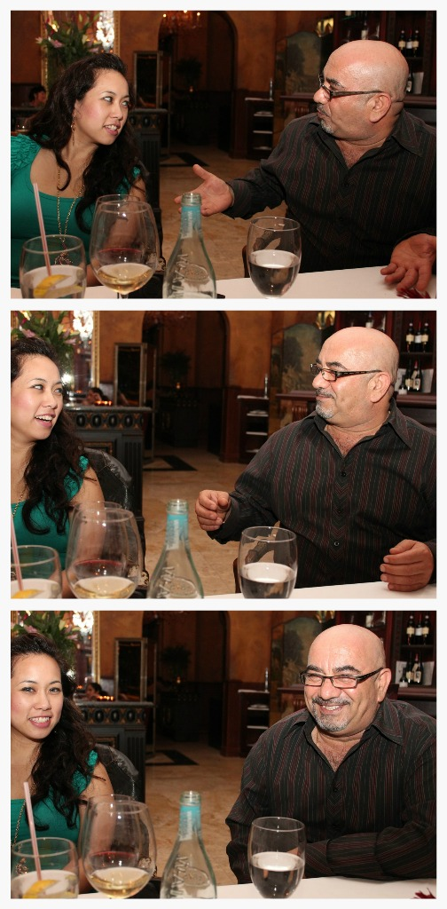 Mario, The Manager at La Traviata, Chats with Marian the Foodie.